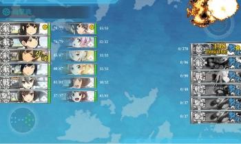 E-2-Kボス艦隊6戦目 ゲージ破壊