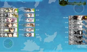 E-4-Mボス戦8戦目 昼戦終了