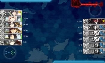 E-6-Oボス戦1戦目夜戦終了