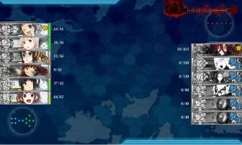 E-6-Oボス戦9戦目夜戦終了
