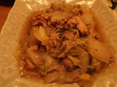 7.4白菜の鯖缶煮
