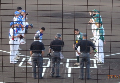 P7154538一塁側花園クラブ 三塁側ネッツ熊本