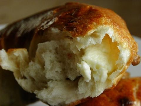 ひまわりとクリームチーズベーグル 断面