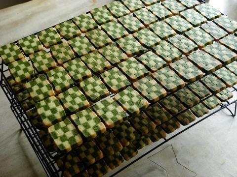 市松のクッキー・抹茶