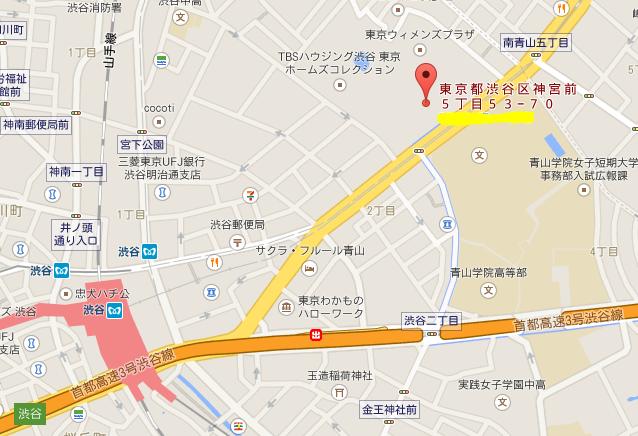 青山ファーマーズマーケット 地図