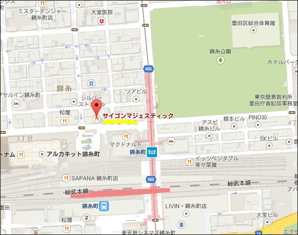 サイゴン・マジェスティック マップ