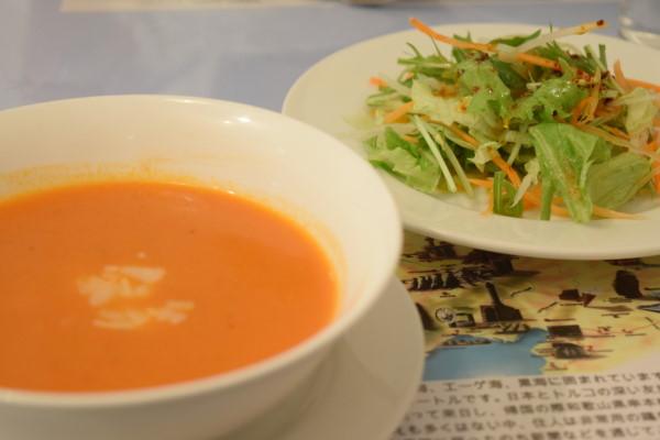トルコアズ スープとサラダ