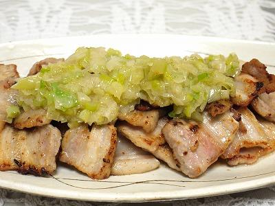 150201豚ばら肉のネギネギソースかけ (3)