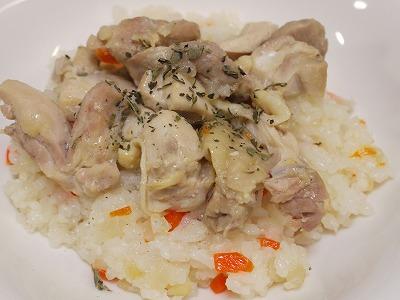 150209鶏がらスープの素でタイ料理っぽい炊き込みご飯 (6)