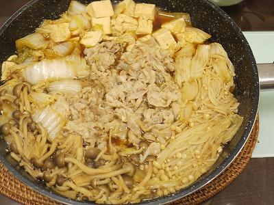 150315ニンニクたっぷり豚バラすき焼き (3)