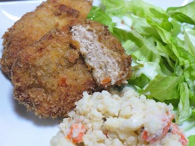 150322ヘルシーでも美味し鶏メンチ (4)