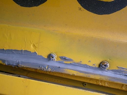 バス雨漏り修理 (1)