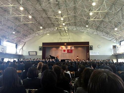 宇都宮市立田原中学校≪第68回 卒業証書授与式≫へ!②