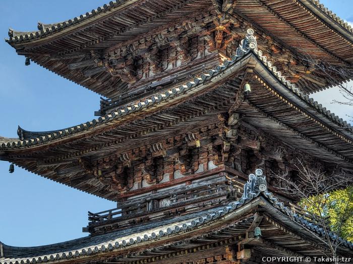 南法華寺三重塔