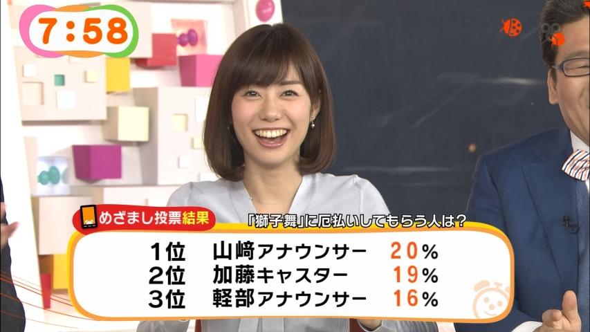 「めざましテレビ」山崎夕貴