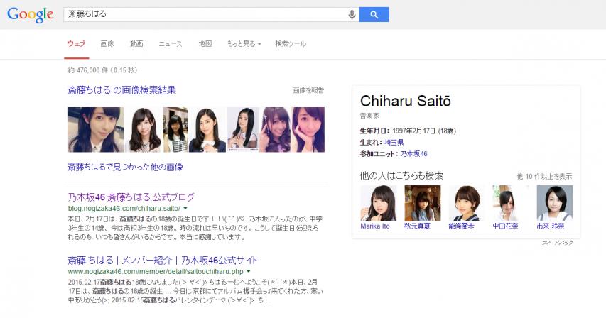 斎藤ちはる Google検索