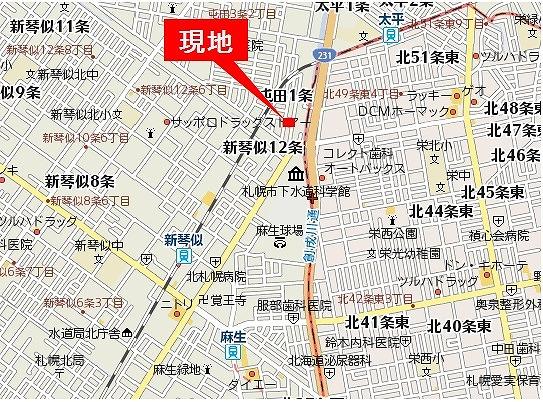 屯田1-1案内図