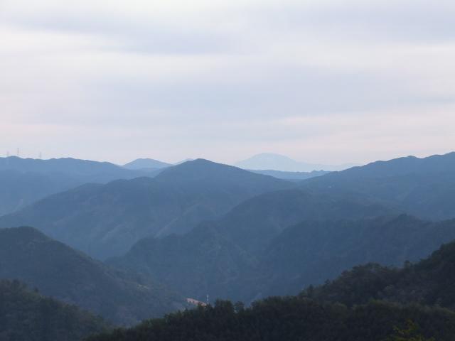 展望岩からの山並み