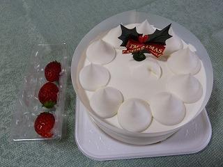 2014年12月クリスマスケーキの1