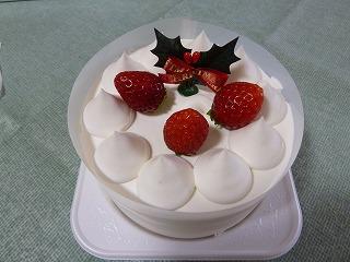2014年12月クリスマスケーキの2