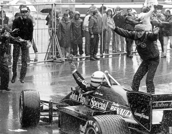 Lotus 97T Ayrton Sennas first wintoril