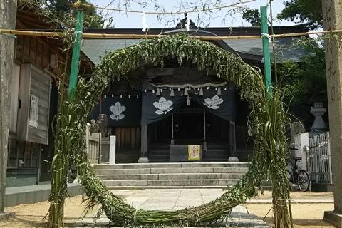 四所神社 茅の輪くぐり