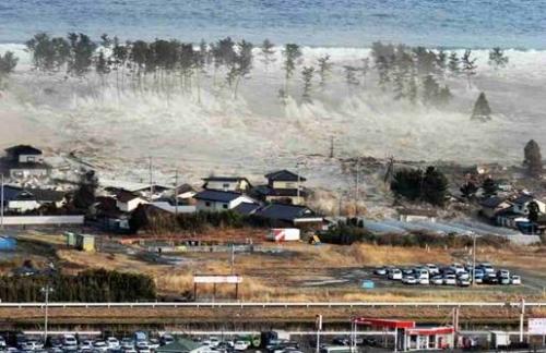 東北地方太平洋沖地震に伴い発生し東日本大震災の原因になった大津波