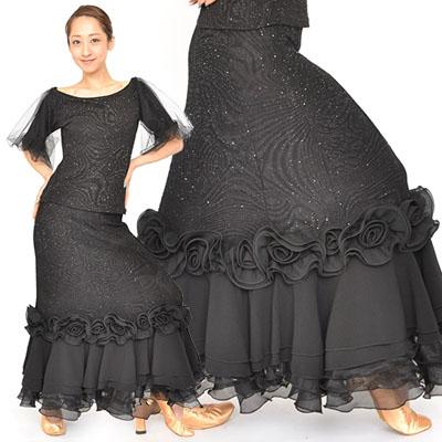 薔薇モチーフ付きスカート