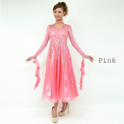 刺繍デザインダンスドレス