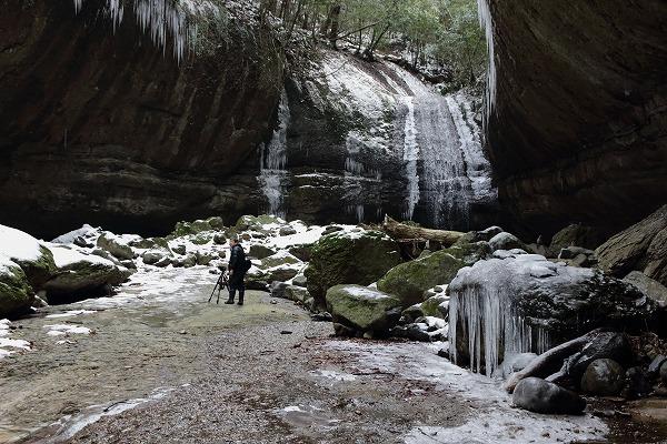 滑川渓谷氷柱・奥の滝 150211 01