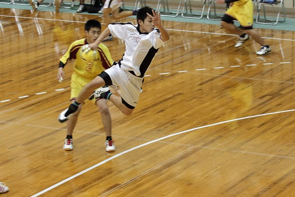 ハンドボール1年生大会・2回戦新田-松北 150214 02