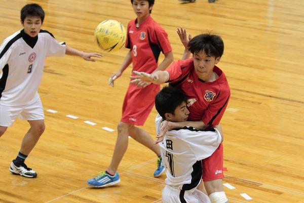 ハンドボール1年生大会・準決勝 松東.・今工-新田 150215 04