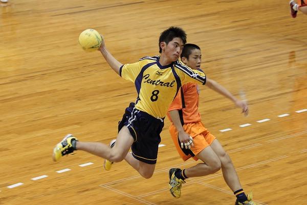 ハンドボール1年生大会・決勝 新田-松中 150215 04