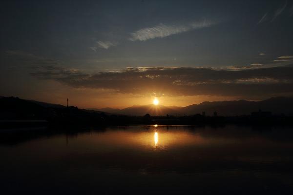 鷹子大池・日の出 150223 018