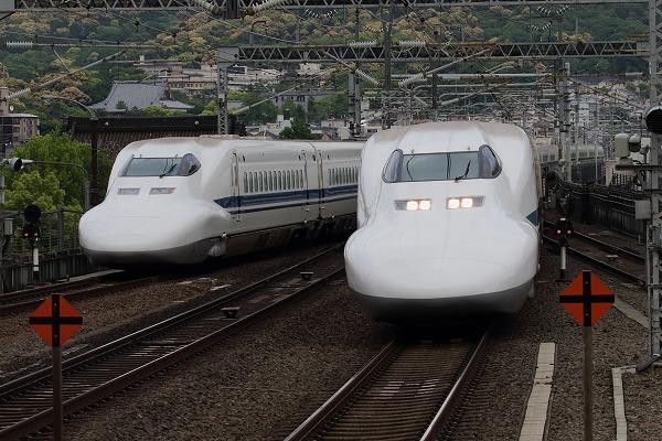 京都駅新幹線700系 150504 02
