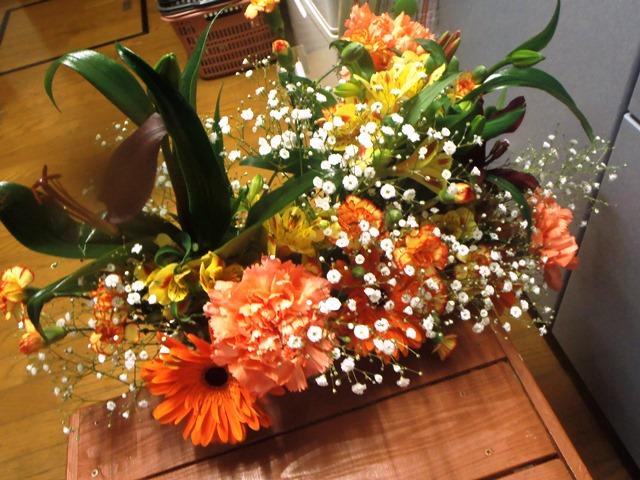 送別会の花20150307