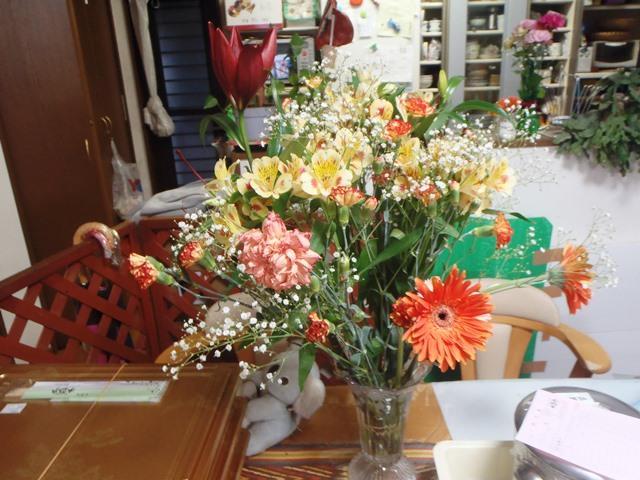 退職の花束20150319