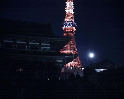日没後の増上寺と東京タワー2015:R2