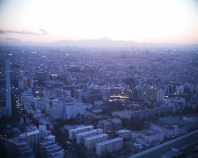 夕暮れ富士山・東京都庁展望台:R2