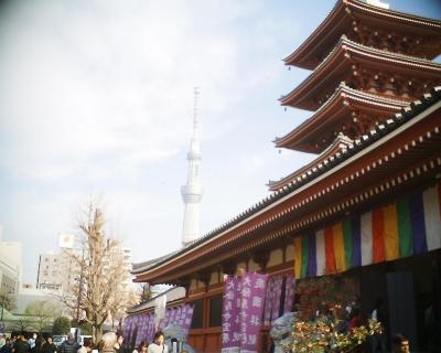 また東京スカイツリーと五重塔:R2