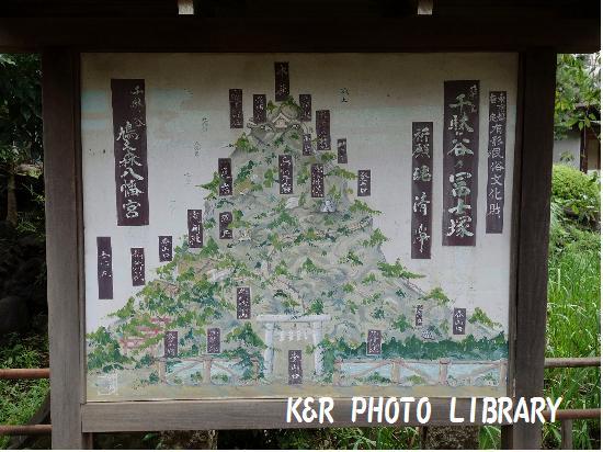 8月30日千駄ヶ谷の富士塚1