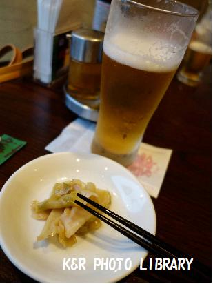 9月8日ビールとザーサイ