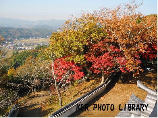 11月23日久留里城天守閣からの風景