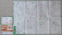 地図を広げました。札幌市内(広域図)、小樽・空知地区の地図です。