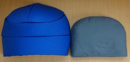 左がドーム。右が枕。