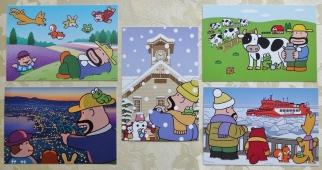 ご当地カールおじさんポストカード 北海道版 (5枚)