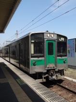 12:33 大河原駅 この列車で白石駅に行きます。