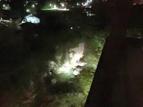 21:19 ライトアップされた 磊々峡