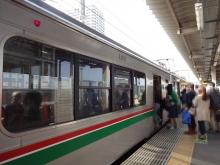 15:06 この列車で仙台へ。(長町駅で)