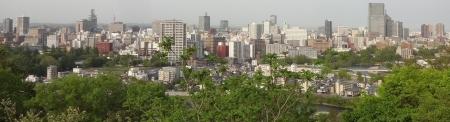 16:56 仙台城跡からの仙台の街の眺め